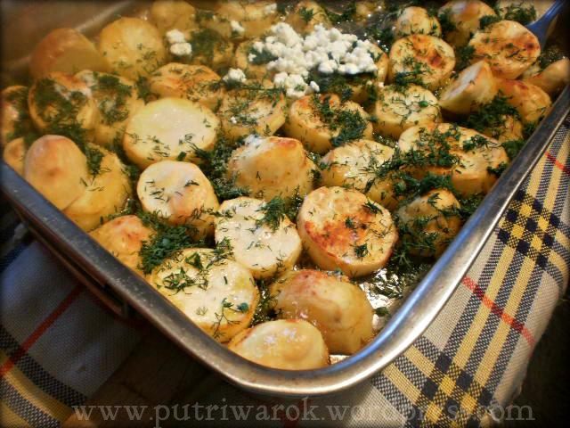 пресни картофи в фурна / baked fresh potatoes / Kentang fresh panggang  by nisa tsvetkova