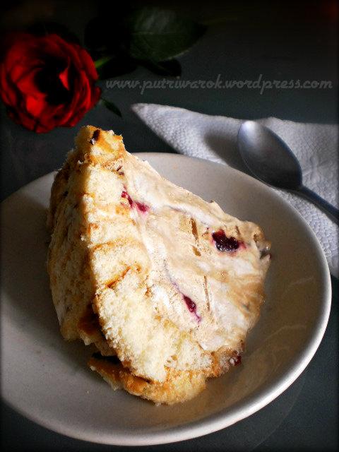 swiss roll ice cream cake with sour cherry jam by nisa tsvetova