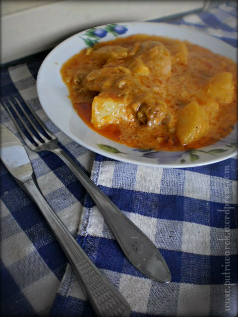 Пиле с картофи по унгарски / Ayam Kentang ala Hungarian by nisa tsvetkova