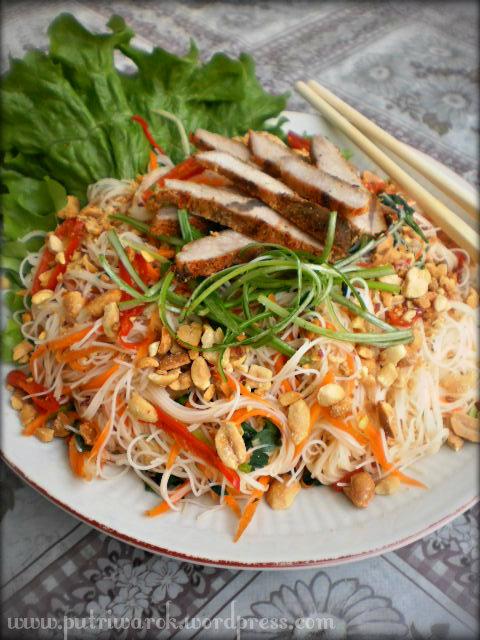 Spice Rice Noodle Salad / Salad Bihun Berbumbu by nisa tsvetkova