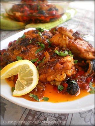 Dominican Stewed Chicken/ Pollo Guisado  by nisa tsvetkova