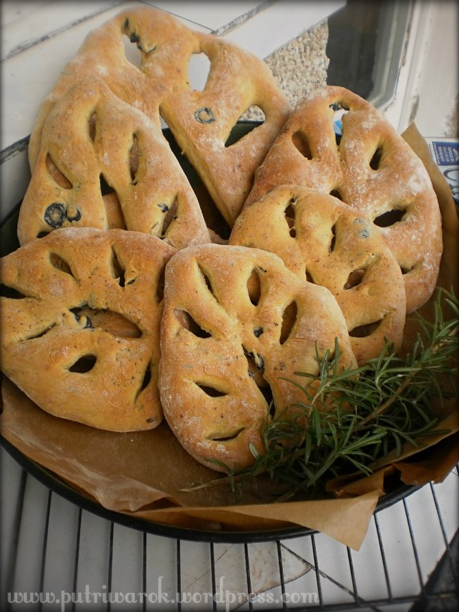 French Fougasse Rosemary & Olive by Nisa Tsvetkova